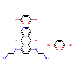 Pixantrone dimaleate structure rendering