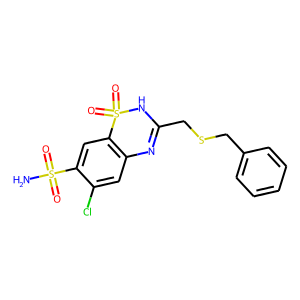 Benzthiazide structure rendering