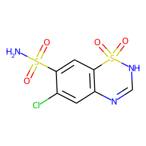 Chlorothiazide structure rendering