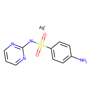 Silver sulfadiazine structure rendering