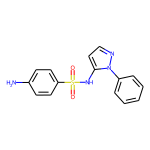 Sulfaphenazole structure rendering