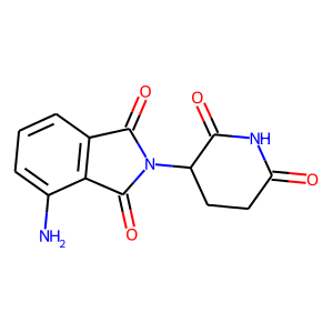 Pomalidomide structure rendering