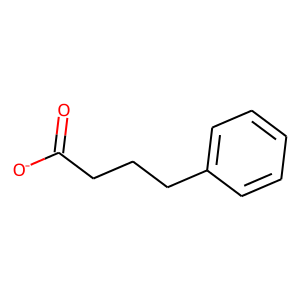 Sodium phenylbutyrate structure rendering