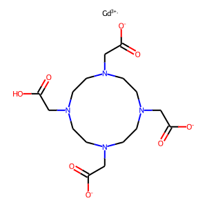 Gadoterate meglumine structure rendering