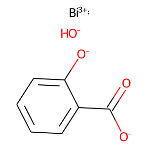 Bismuth subsalicylate structure rendering