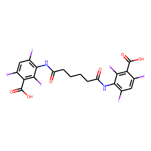 Iodipamide structure rendering