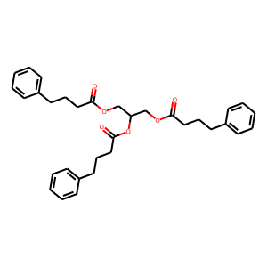 Glycerol phenylbutyrate structure rendering