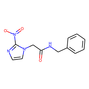 Benznidazole structure rendering