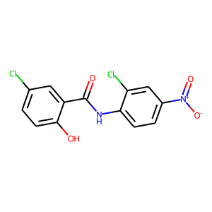Niclosamide structure rendering