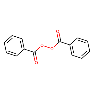 Benzoyl peroxide structure rendering