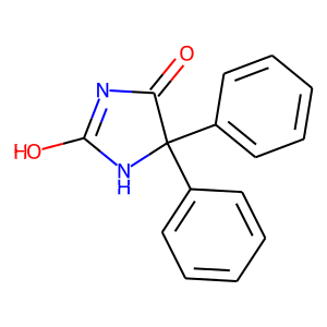 Phenytoin structure rendering
