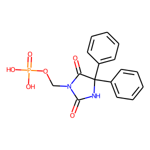 Fosphenytoin structure rendering