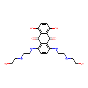 Mitoxantrone structure rendering