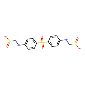Sulfoxone structure rendering