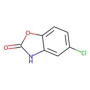 Chlorzoxazone structure rendering