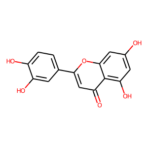 Luteolin structure rendering