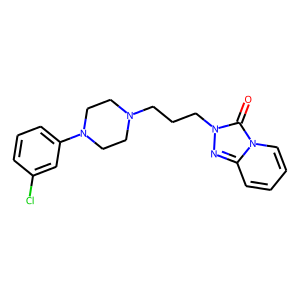 Trazodone structure rendering