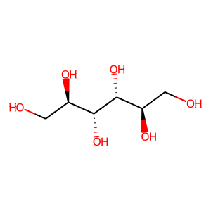 Mannitol structure rendering