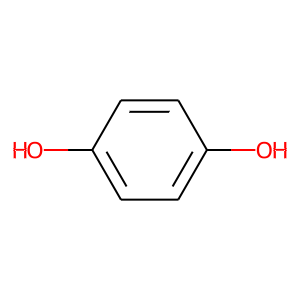Hydroquinone structure rendering